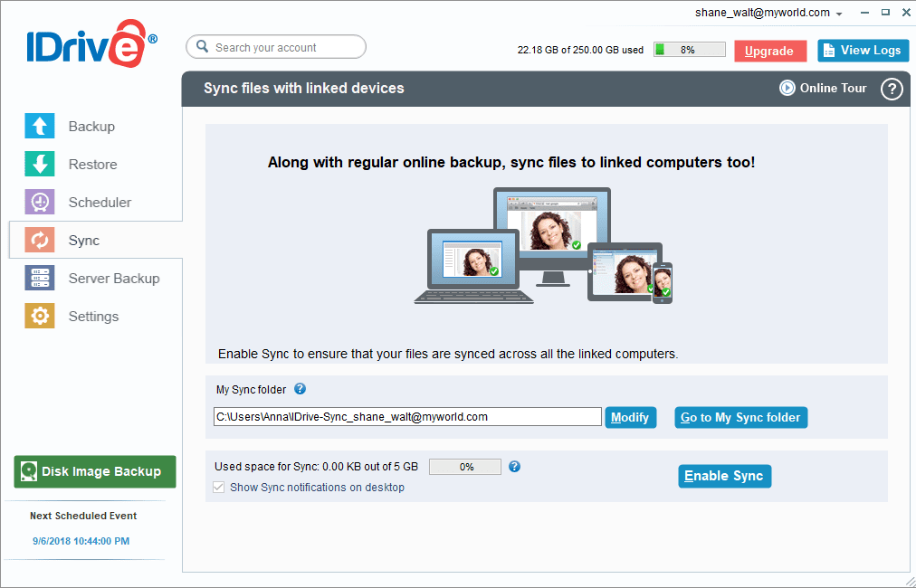 iDrive Windows Sync